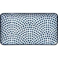 Talíř obdelníkový Gusta Out Of The Blue 22,5x12,3 cm, dekor kapky