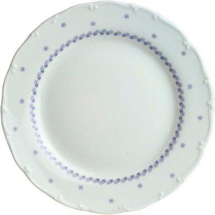 Talíř mělký 25 cm Ofelie Modrý dekor