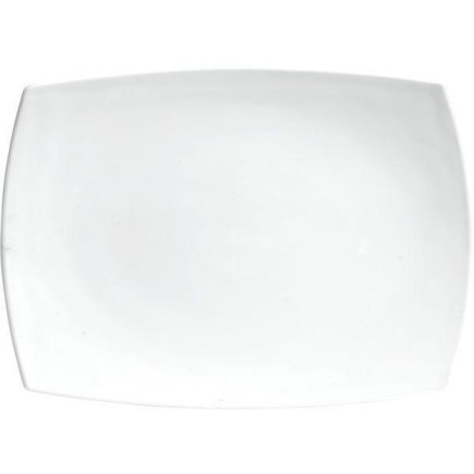 Talíř klubový obdélník 35x26 cm Quadrato bílý Luminarc