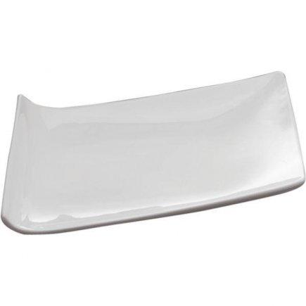 Servírovací Tác Podnos Talíř 34 cm bílý Trapez Sandra Rich